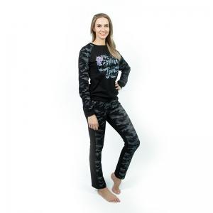 Спортивный костюм жен.  (футер б/н 2-х нитка набивной, гладкокрашенный с лайкрой, п/э, печать) Арт.569