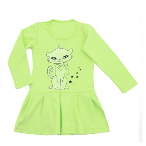 Платье для девочки с принтом длинный рукав интерлок Арт.447