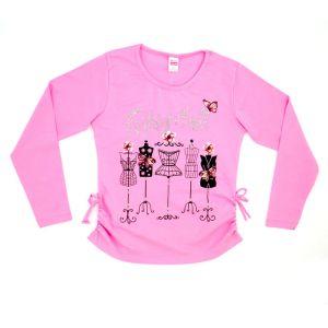 Блуза для девочки с печатью длинный рукав Арт.32970