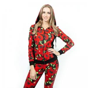 Спортивный костюм жен.  (футер б/н 2-х нитка набивной, гладкокрашенный с лайкрой, п/э) Арт.567