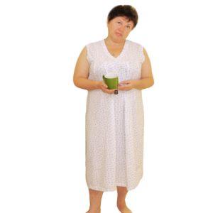 Сорочка женская без рукава удлиненная набивная кулирка Арт.148