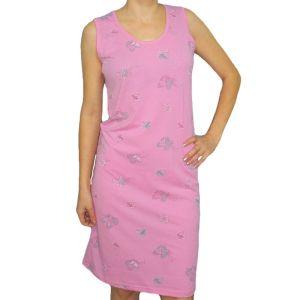 Сорочка женская длиной до колена без рукава кулирка набивная Арт.171