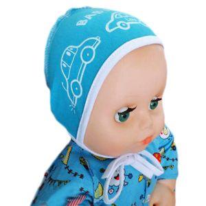 Чепчик для новорожденного с печатью кулирка Арт.192