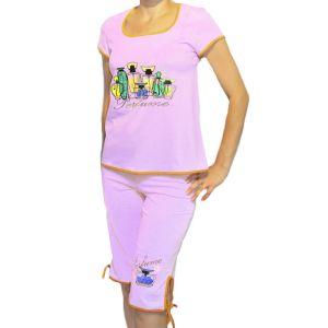 Комплект женский из блузы с печатью и бридж Арт.247