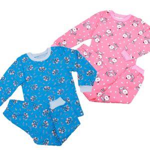Пижама детская джемпер и брюки футер набивной Арт.28