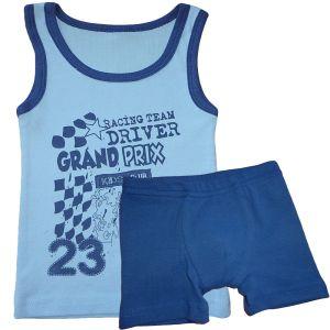 Комплект нижнего белья для мальчика с печатью ластик Арт.334