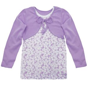 Блузка для девочки р 52 (интерлок, х/б 100%, печать) Арт.417