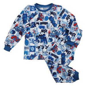 Пижама детская джемпер и брюки кулирка набивная Арт.58