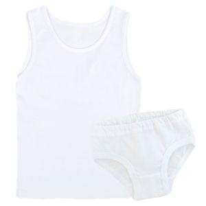 Комплект нижнего белья для девочки белый майка и трусы Арт.68
