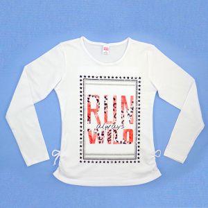 Блуза для девочки с печатью длинный рукав Арт.33953