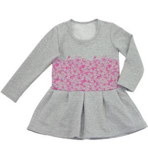 Платье для девочки с печатью длинный рукав футер Арт.448