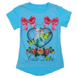 Блуза для девочки с печатью Арт.1350