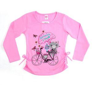 Блуза для девочки с печатью длинный рукав Арт.31828