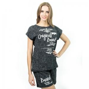Комплект женский (блузка и шорты, кулирка набивная) Арт.497