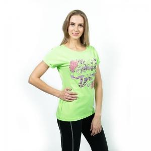 Блузка женская (Кулирка гладкокрашенная х/б с лайкрой+печать) Арт.573
